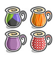 set abstract icons of milk jugs vector image