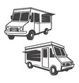 set food trucks isolated on white background vector image