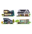 set house flat design style vector image