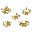 Set of tea icons and symbols vector image vector image
