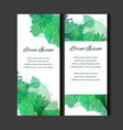 set of templates of vertical blanks with green vector image vector image