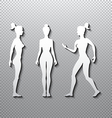 silhouette woman on a white background vector image vector image