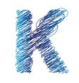 sketched letter K vector image vector image