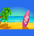 surfboard single vector image vector image