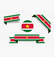surinamese flag stickers and labels vector image vector image