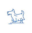 terrier line icon concept terrier flat vector image vector image