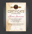 vertical certificate appreciation or diploma
