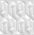 white and gray decorative geometric texture vector image vector image