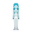 woman full body with blouse and jacket and pants vector image vector image