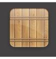 wooden icon vector image vector image