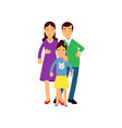 young parents posing with their daughter husband vector image vector image