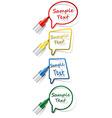 labels with felt tip pen vector image