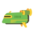 UFO spaceship isolated vector image