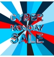 Big ice sale poster with CYBER MONDAY SALE text vector image
