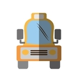 taxi cab vehicule transport shadow vector image