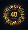 40 years anniversary isolated design vector image vector image