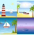 a boat on a tropical beach vector image vector image