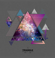 abstract hipster polygonal triangle background vector image