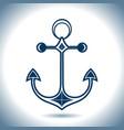 anchor icon nautical theme vector image