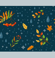 autumn seamless pattern background with vector image