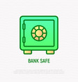 bank safe thin line icon vector image