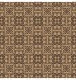 Brown Ornamental Seamless Line Pattern vector image vector image