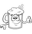 cartoon beer mug vector image
