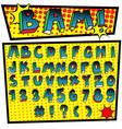 cartoon font pop art style vector image