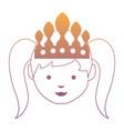 cartoon princess icon vector image vector image