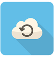 Cloud loading icon vector image vector image