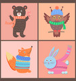 collection of cute posters on vector image vector image