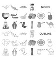 country united arab emirates monochrom icons in vector image vector image