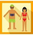 couple tourist vector image