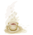 cup of coffee watercolor style vector image vector image