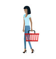 customer woman character vector image vector image
