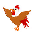 cute rooster cartoon vector image vector image