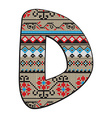 D letter decorated vector image