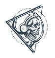 Dead astronaut in spacesuit vector image vector image