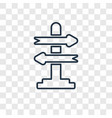 decision making concept linear icon isolated on vector image