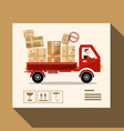 delivery service concept truck design with parcels vector image vector image