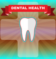 Dental Health Flyer vector image