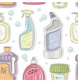detergent bottles collection pattern vector image