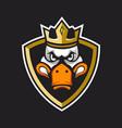 duck king logo vector image