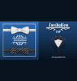 elegant bowtie banner set realistic style vector image