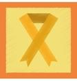 flat shading style icon gay HIV ribbon vector image vector image