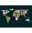 Flower World Map vector image