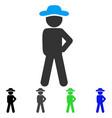 gentleman audacity flat icon