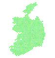 green hex tile ireland republic map vector image vector image