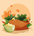 grilled chicken icon vector image vector image
