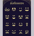 halloween silhouette pumpkins vector image vector image